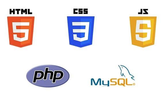 Html, css, js, php, mysql