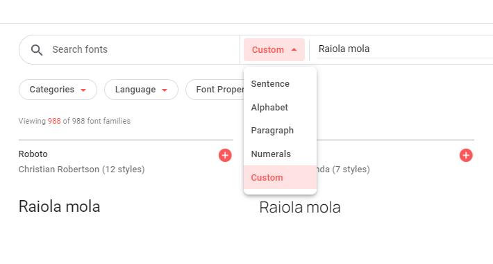 Cómo probar el catálogo de Google Fonts