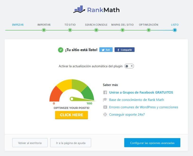 Asistente terminado rank math