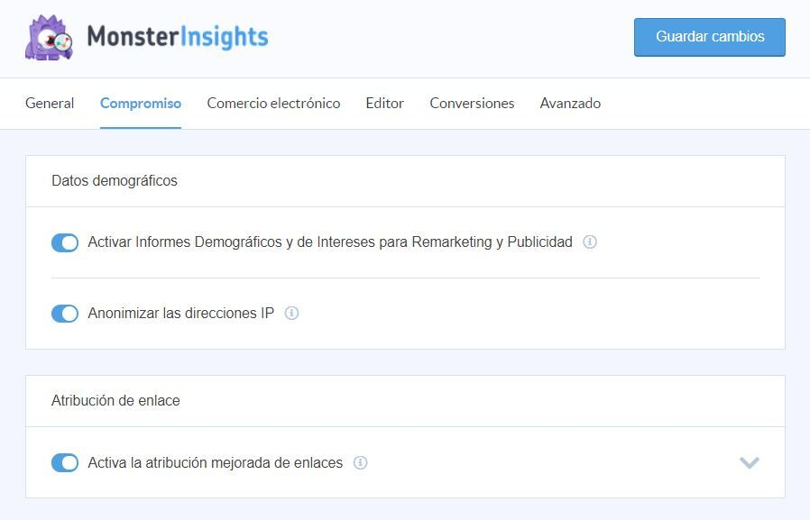 monsterinsights-compromiso