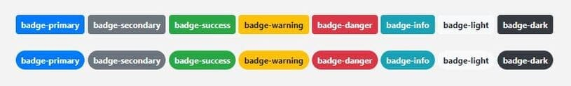 badge bootstrap