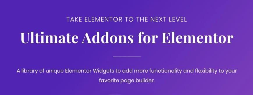 ultimate addons elementor
