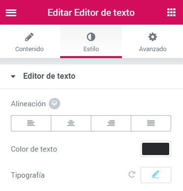 justificar-texto-wordpress-elementor-alineacion