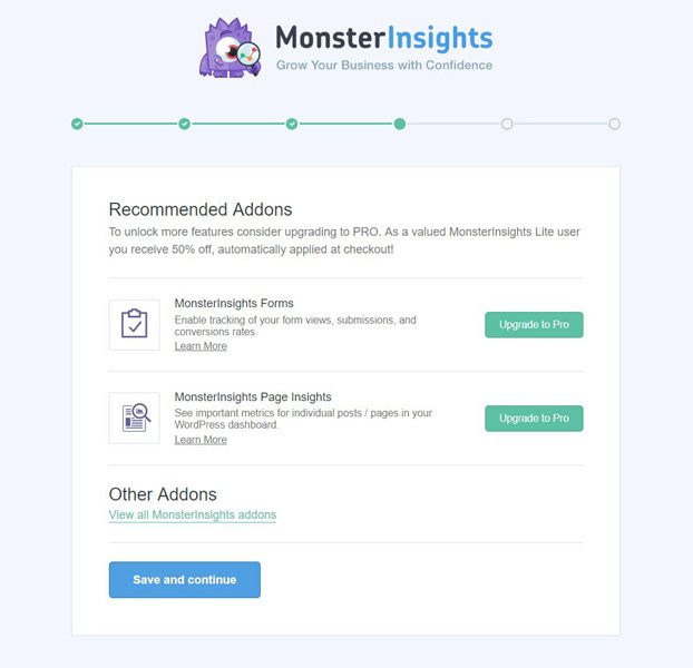 monsterinsights-ajustes-addons