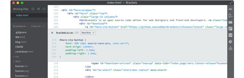 Brackets HTML