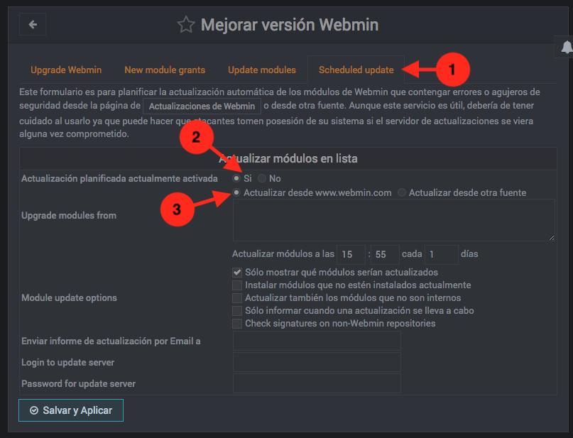 Como actualizar Webmin automaticamente