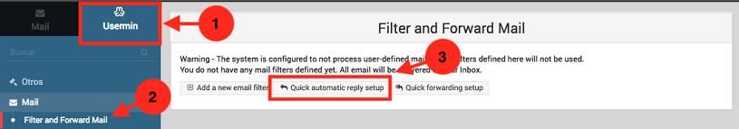 Como crear una auto respuesta en usermin - paso 1