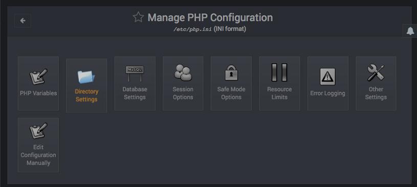 Como editar la configuracion de PHP en Webmin - Paso 2