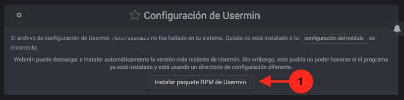 Como instalar Usermin en Webmin - Paso 1