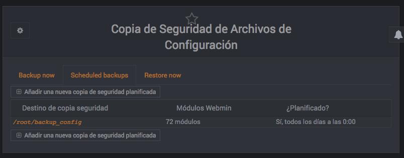 Como programar un backup de la configuracion de Webmin - Paso 3