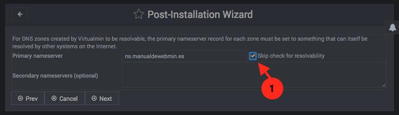 Configuracion inicial de virtualmin - paso 8