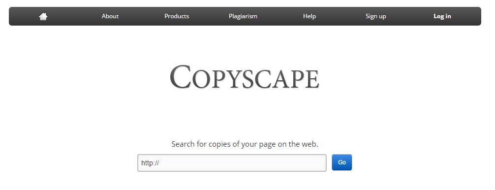 Captura de la herramienta Copyscape