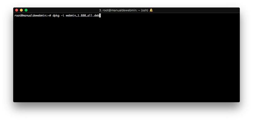 Instalar Webmin en Debian 9 stretch - Paso 4 - Instalar el .DEB de Webmin