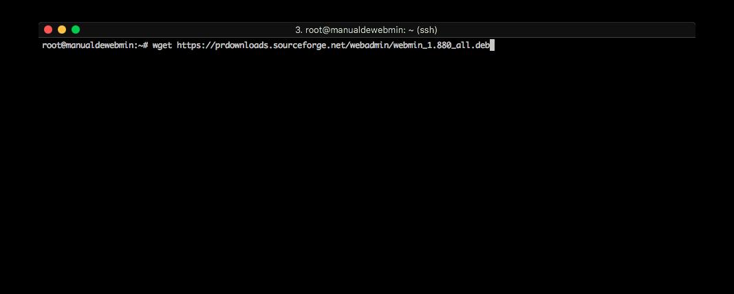 Instalar Webmin en Ubuntu 16.04 - Paso 3 - Descargar Webmin