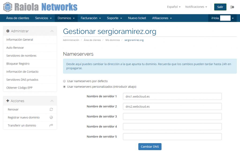 cambiar dominio wordpress
