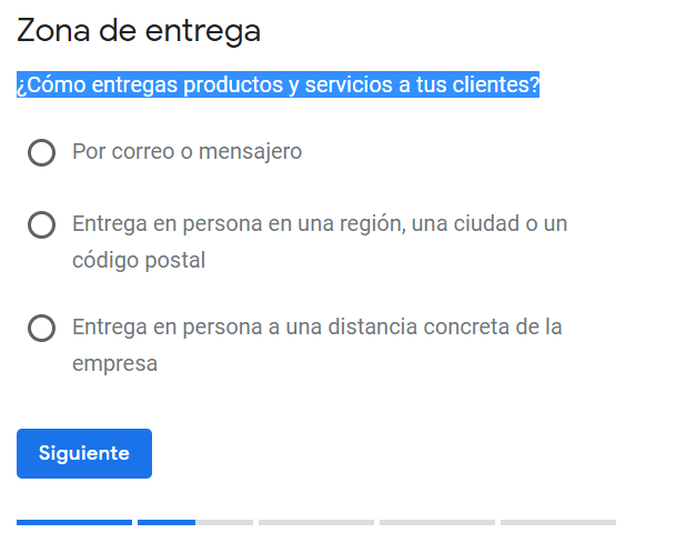 Google My Business cuarto paso