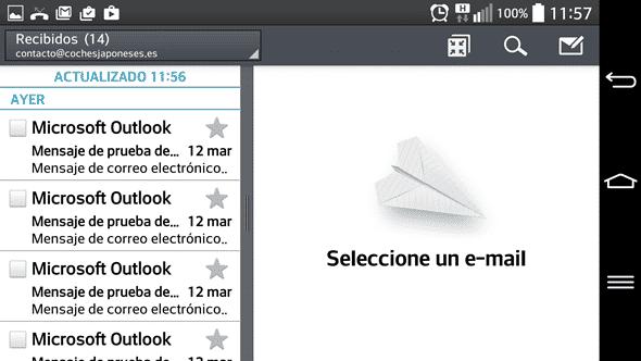 Configurar cliente de correo en Android para cuenta en cPanel