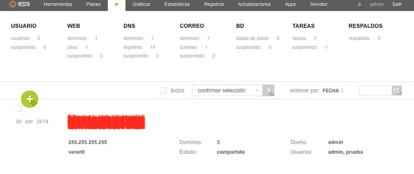 configurar IP vesta 2