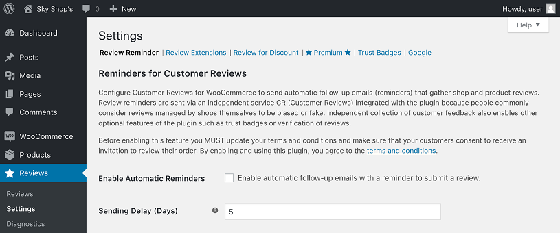 configurar customer reviews for woocommerce plugin testimonios wordpress 1