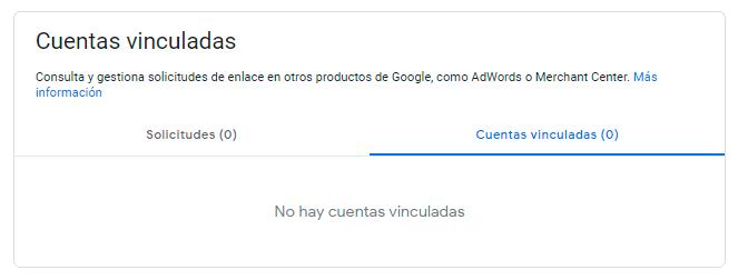 Google My Business cuentas vinculadas