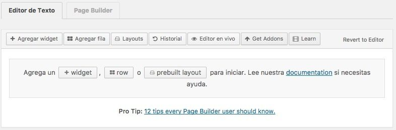 editor page builder