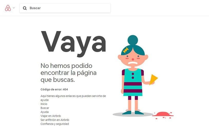 ejemplo error 404 airbnb