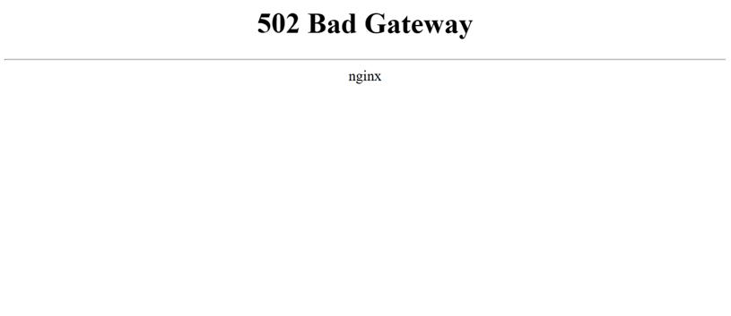 error 502 puerta enlace incorrecta