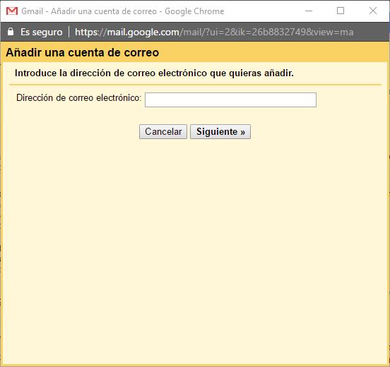 añadir correo gmail