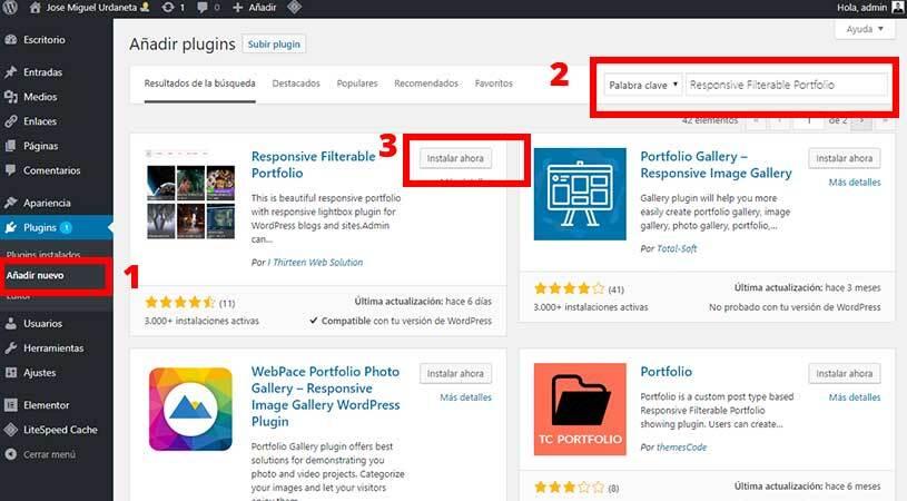 instalar-wordpress-portfolio-plugin