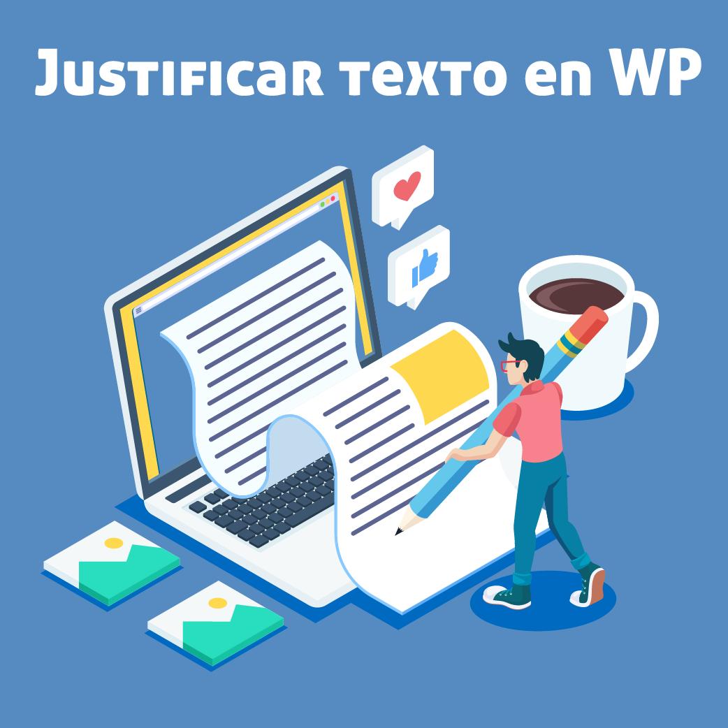 justificar texto wordpress