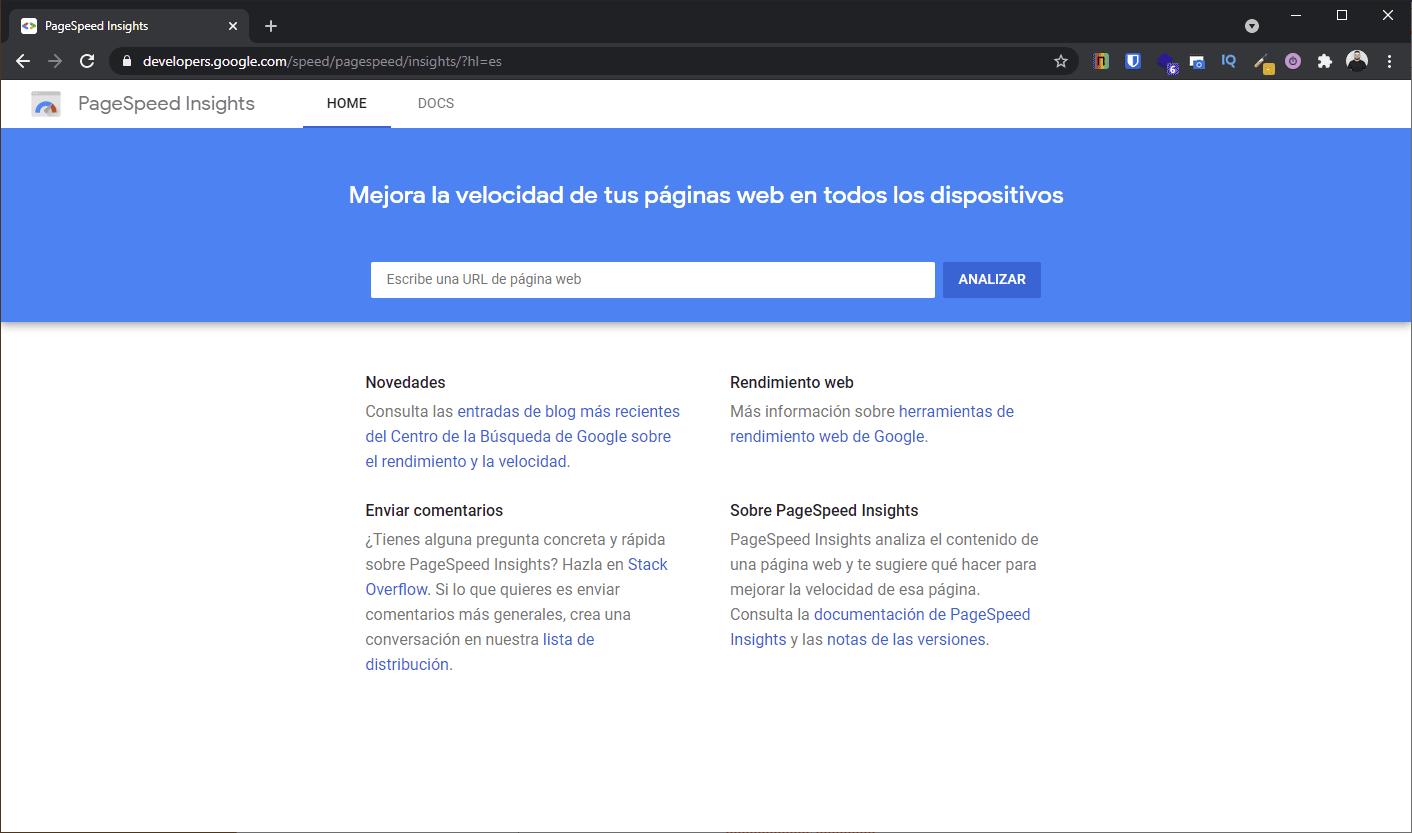 Que es Google PageSpeed